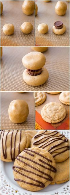 Reese's Stuffed Peanut Butter Cookies. Soft, chewy, and overloaded with peanut butter! http://sallysbakingaddiction.com