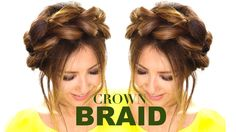 Pull-Through CROWN BRAID UPDO Hair Tutorial  ★ Easy Braids HAIRSTYLES