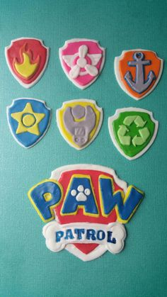 paw patrol inspired cake toppers by AbbysEdibleDesigns on Etsy https://www.etsy.com/listing/226479898/paw-patrol-inspired-cake-toppers