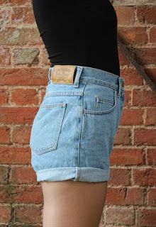 D.I.Y. or DIE: 80's High Waisted Denim Shorts Tutorial