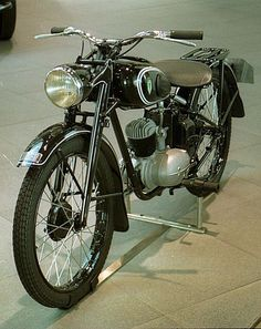 DKW RT 125  This particular motorcycle is interesting because of it history. It started production in the 1930s and continued in one form or another to be built in Germany until the 1960s. As part of reparations after World War 2, the drawings and some tooling were distributed among the allies. Harley Davidson modified the design in the U.S. into what became the Harley Davidson Hummer. In the U.K. BSA turned it into the Bantam. the Soviet Union also produced a version. DKW also developed the…