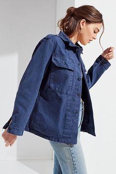 cf126b1ebfc58 Vintage 1950s Oversized Work Jacket Vintage Ski Jacket, Work Jackets, Coats For  Women,