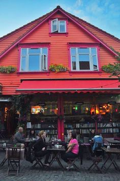 Ovre Holmegate - the most colorful street in Stavanger, Norway