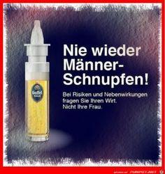 lustiges Bild 'Nie Wieder Schnupfen.jpg' von gunni. Eine von 219 Dateien in der Kategorie 'Lustige Werbespots' auf FUNPOT.