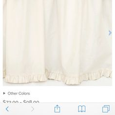 Pine Cone Hill classic ruffle bed skirt A lovely pale pink bedskirt, I have the sheet set listed as well.  Full size. Pine Cone Hill Other
