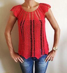 Magnifique blouse au crochet ajouré 1 / Linda blusa tejida a crochet fac...                                                                                                                                                      More