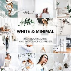White And Minimal Lightroom Presets are absolutely perfect for high-end fashion and stylish quality look of your. Lightroom Gratis, Lightroom Presets, Vsco Presets, Lightroom Effects, Foto Instagram, Instagram Feed, Instagram Design, Vsco Gratis, White Instagram Theme