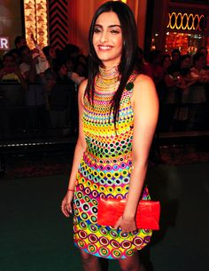 @SonamAKapoor in #Funky #Dress ~