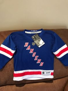 39a421617 NHL brand New York Rangers NHL Hockey Jersey NWT Size 2 4 T Toddler