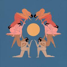 Laura Berger - Around The Sun - 2017 Acrylic & Gouache on Wood Panel Art Inspo, Laura Berger, Art Et Illustration, You Draw, Photo Projects, Art Design, Community Art, Oeuvre D'art, Art Photography