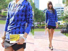 Kate Spade Clutch, Forever 21 Sweater, Zara Shorts
