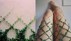 NYC-based artist Lirika Matoshi hand-creates the most AMAZING embellished fishnet tights