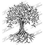 Resultado de imagem para tree with roots tattoo pretty