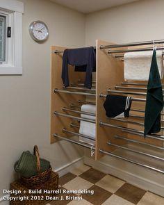 Madison Accordion WallMounted Laundry Drying Rack Single 18H