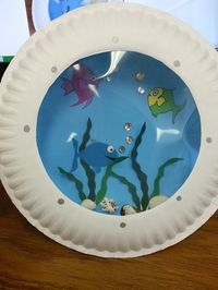 Misadventures of a YA Librarian: Porthole Fish Craft