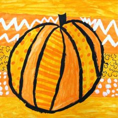 Time to bust out the orange paint! Get those kids painting this weekend with this fun pumpkin painting for inspiration!
