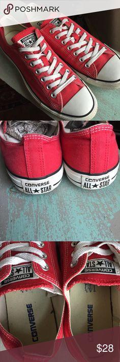 7e9206cd1554 Converse red canvas tennis shoes men 10 Excellent condition Converse Shoes  Sneakers Shoes Men