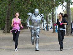 Jogging with Tony Stark