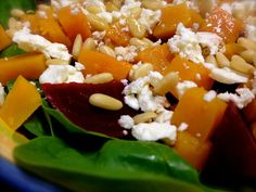 Pumpkin and Beetroot Salad Recipe.  I've had a salad with these components that is so delicious, so I'm trying to reproduce it.  Hope this is the recipie that will help me do so!