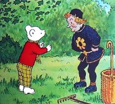 Rupert Bear and the Professors dwarf