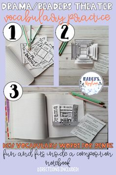Drama Vocabulary - Activity (Foldable) for Composition Notebook New Vocabulary Words, Vocabulary Activities, Classroom Activities, Class Activities, Teaching Reading, Teaching Kids, Reading Comprehension Strategies, Drama, Teacher Inspiration