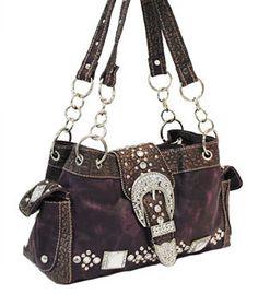 Purple Bling Western Handbag