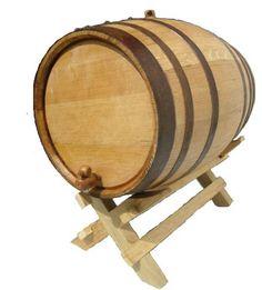 Oak Barrels & Kegs - Product: Oak Barrel - 13 gallon (50 liter) Black Hoop