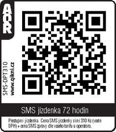 MHD Praha QR na SMS jízdenku na 72 hodin