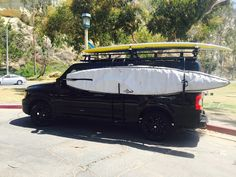 Nissan NV with Aluminess roof rack and surfer hooks!  Photo cred: Kirk Waldfogel