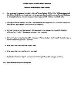 Literary Analysis Essay Graphic Organizer  Teacherspayteachers
