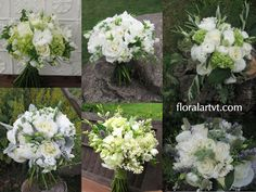 Floral Artistry, Vermont Weddings White Bouquet Inspiration Board via floralartvt.com