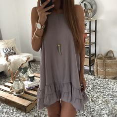 The Hannah Ruffle Dress | OHM BOUTIQUE
