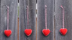 A personal favorite from my Etsy shop https://www.etsy.com/listing/467938526/set-of-4-red-handmade-felt-mini-heart