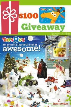 "Enter to win a $100 Toys""R""Us Gift Card Giveaway ENTER http://freebies4mom.com/awesome ad Plan your kids' AwesomeMoment (ends 11/13/15)"