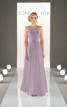 Second choice bridesmaids dress. Sorella Vita style 8431 in dusty lavender http://www.essensedesigns.com/sorella-vita/dresses/detail/8431