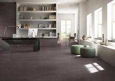 Stunning Italian porcelain from Everstone, great for open living areas and office spaces