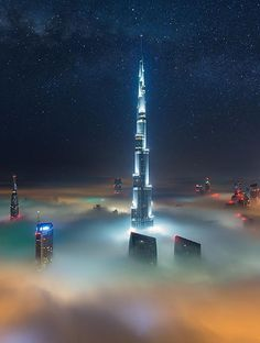 Dubai's Cloudy Nights