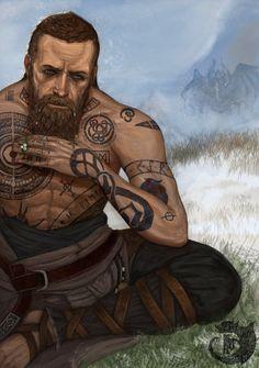 Baldur The Stranger | God Of War | Tattoos, Tattoo designs ...