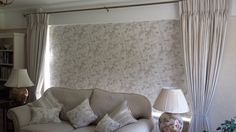 giant roman blind and co ordinating cushions and curtains in Laura Ashley fabric