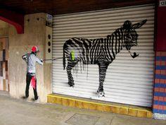 Street art from ENTIJUANARTE10 Festival on Avenida Revolucion, Tijuana