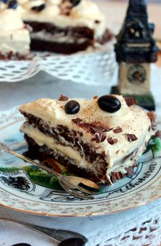 Bulgarian Food, Bulgarian Recipes, Cake Recipes, Dessert Recipes, Mocha Cake, Tasty, Yummy Food, Mint Chocolate Chips, Mocca
