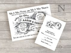 Vintage Calligraphy Book Wedding Invitations with by nellybean, $3.50