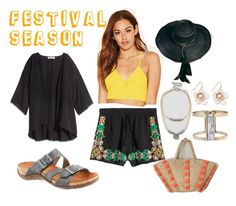 """""""Festival Season Fun"""" by bearpawstyle on Polyvore featuring H&M, Free People, Monserat De Lucca and Eloquii"""