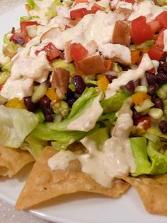 Epicurean Mom: Zesty Fiesta Salad w/a Chipotle Ranch Dressing