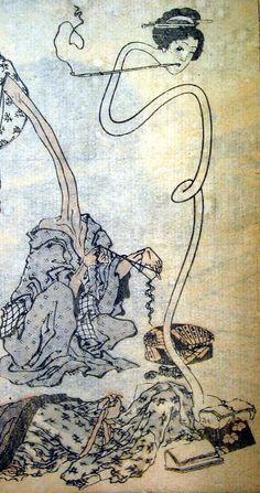 """""""Rokurokubi"""" from the Hokusai Manga by Katsushika Hokusai"""