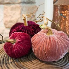 Fun Unique Craft Projects To Try Pumpkin Stem, Pumpkin Crafts, Diy Pumpkin, Velvet Pumpkins, Fabric Pumpkins, Fall Pumpkins, Do It Yourself Wedding, Do It Yourself Crafts, Pumkin Decoration