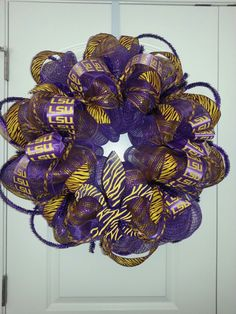 2013 LSU Tigers wreath