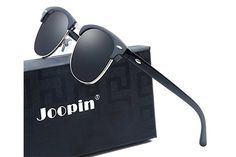 Joopin semi-rimless polarized sunglasses