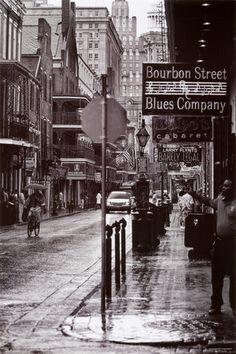 «Bourbon Street» La Nouvelle Orléans Affiche