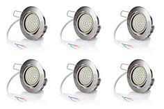 6 x stück sweet led® Flaches Design LED Einbaustrahler Flach | 320 Lumen | 3.5W | 230V | Edelstahl Optik | Rund | Schwenkbar Einbauspots Einbauleuchten Einbau led (Warmweiß) Sweet Led http://www.amazon.de/dp/B00Z176FTW/ref=cm_sw_r_pi_dp_HLe8wb0HZ38GP